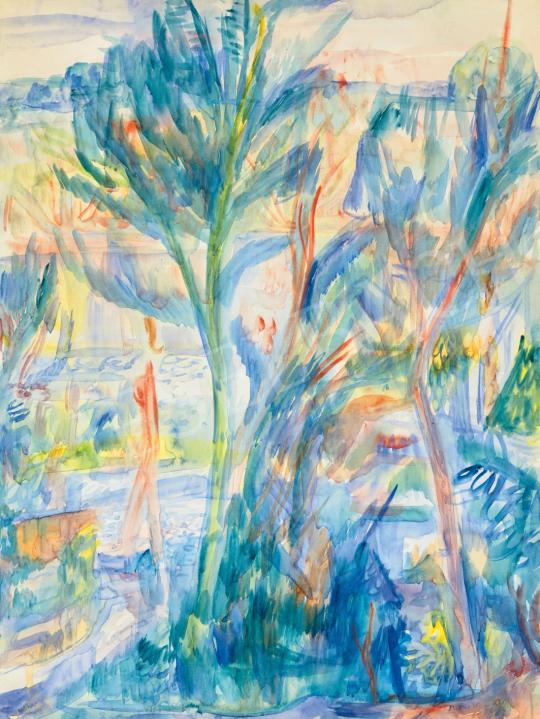 Paizs-Goebel Jenő - Szentendrei kertben, 1943   65. Aukció aukció / 173 tétel