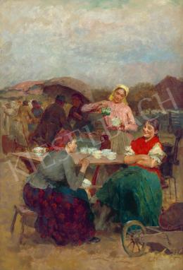 Deák Ébner, Lajos - On the Market (Szolnok)