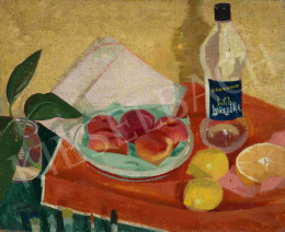 Korda, Vince - Still-Life in Studio with Fruits and Brushes