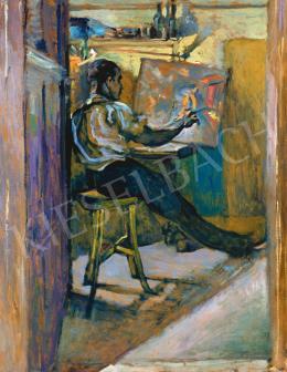 Scheiber, Hugó - Painter in Studio, c.1919