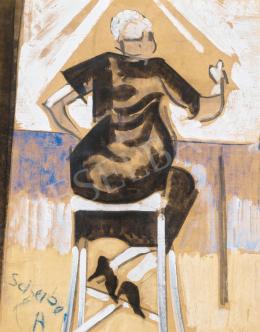 Scheiber, Hugó - Woman on Chair
