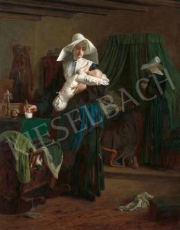 Székely Bertalan - Az apáca, 1870