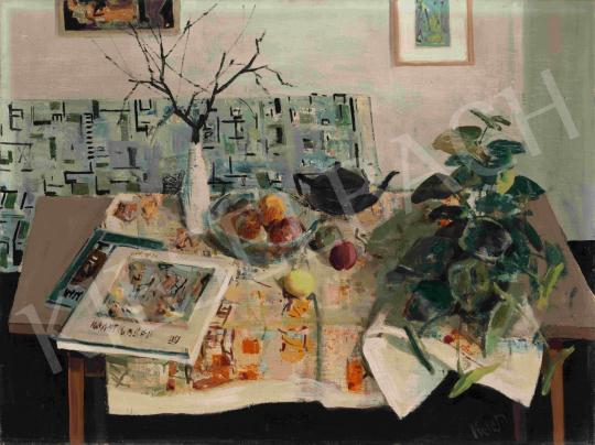 id. Keleti Jenő - Csendélet művészeti albumokkal (Retro Magyarország), 1960-as évek | 65. Aukció aukció / 5 tétel