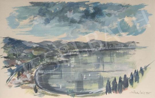Eladó  Zöldy Emil  - Tihanyi öböl (Balaton), 1975 festménye