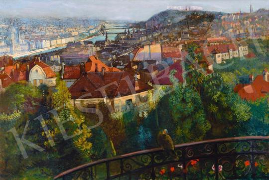 Eladó Nagy Sándor - Budapest látképe, 1916 festménye