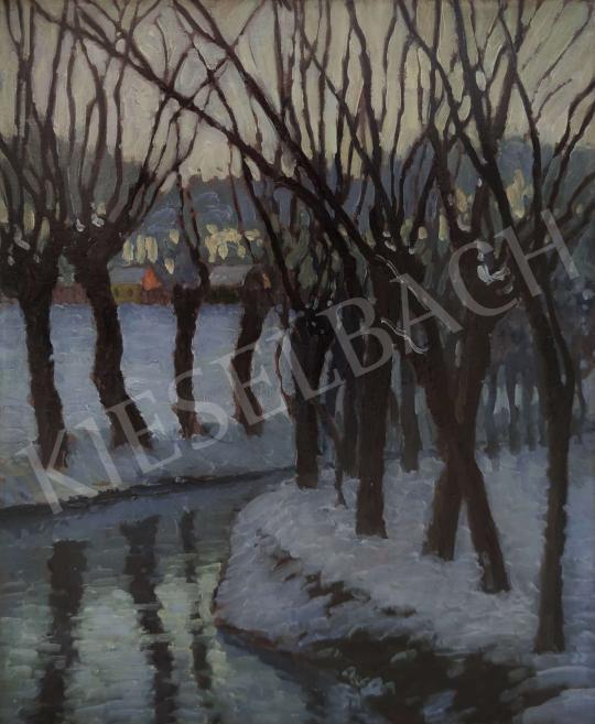 Eladó Balla Béla - Téli est a Holt Maroson, 1920  festménye