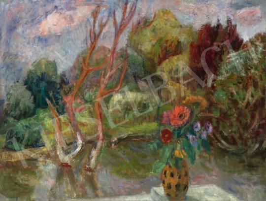 Eladó Berény Róbert - Zebegényi hangulat (Áradás után) festménye