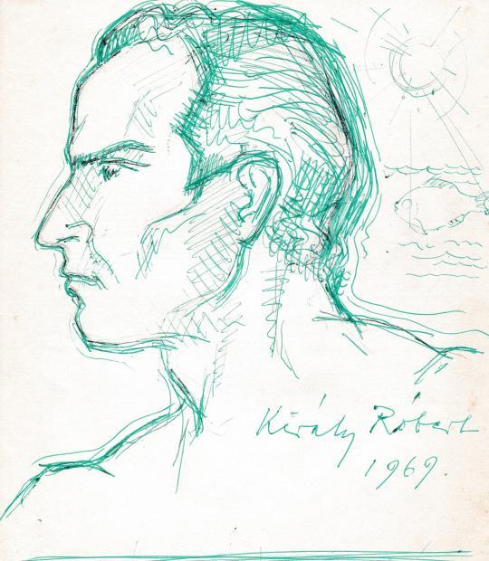 Eladó Király Róbert - Önarckép, 1969 festménye