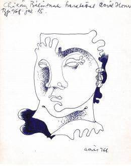 Aczél Ilona - Önarckép, 1968