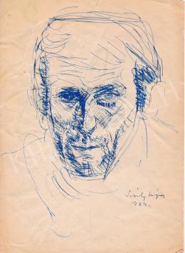 Sváby Lajos - Önarckép, 1964