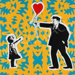 drMáriás - Lenin give back the balloon in Banksy's Studio, 2021