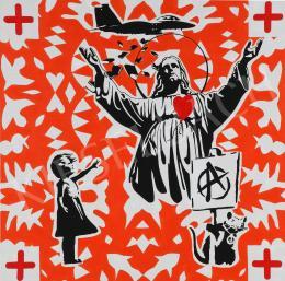 drMáriás - Jesus in Banksy's studio, 2021