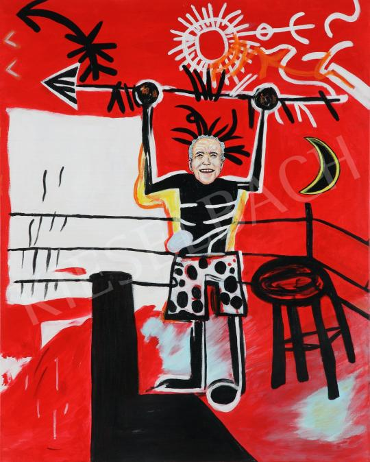 For sale  drMáriás - Joe Biden celebrates his election victory as Ali Muhammad in Basquiat's studio, 2021  's painting