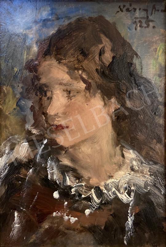 Eladó Náray Aurél - Fiatal lány portréja, 1925 festménye
