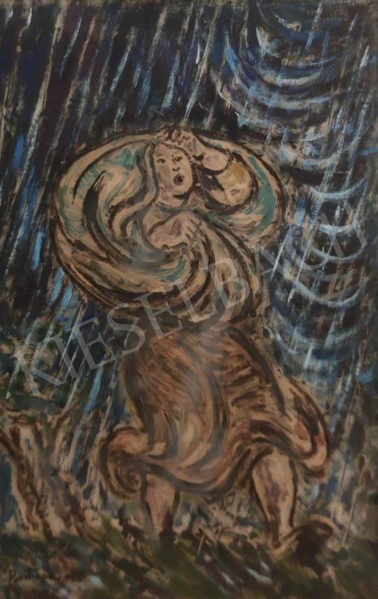 Eladó  Bortnyik Sándor - Vihar elől menekülő, 1956 festménye
