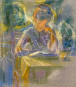 Schubert Ernő - Délutáni olvasás a kertben