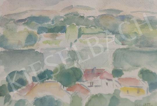 Eladó  Kmetty János - Dunapart festménye