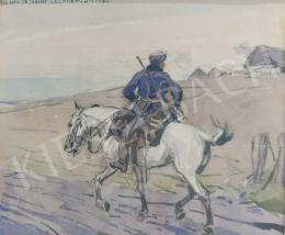 Juszkó Béla - Lovas katona,1916