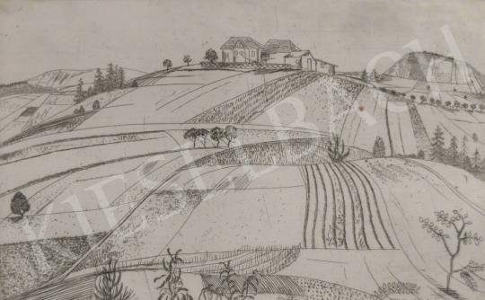 Eladó  Barcsay Jenő - Dombok között festménye