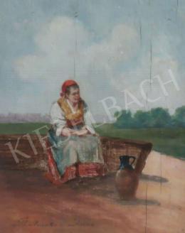 Perlmutter Imre - Asszony korsóval