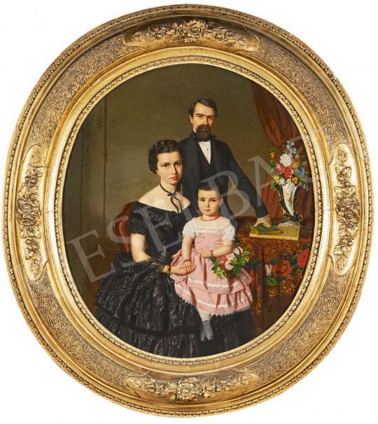 Eladó  Canzi Ágost - Budapesti selyemkereskedő és családja (Wabrosch József és családja), 1857 festménye