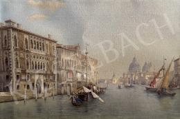 E. Ciecinsky - Canal Grande, Santa Maria della Salute, 1893