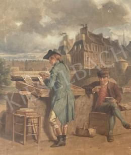 David, Gustave - Bookseller by the Bank of Seine in Paris