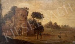 Ismeretlen 18. századi művész - Itáliai tájkép - a két kép együttes ára: 2 400 000 Ft