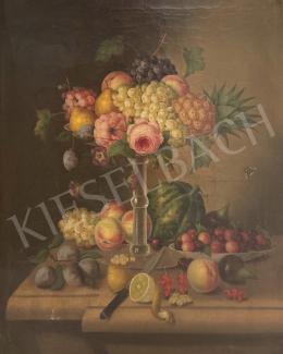 Seitz, Johann Georg - Csendélet gyümölcsökkel és virággal