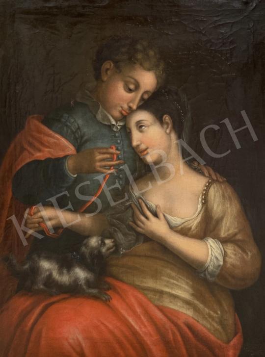 Eladó Ismeretlen 18. századi művész - Szerelmespár  festménye