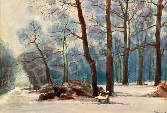 Eladó  Czétényi Vilmos - Soproni városliget télen festménye