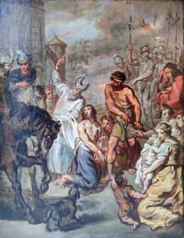 Ismeretlen festő - Szent Máté mártíromsága