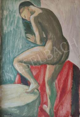 Németh József - Női akt műteremben