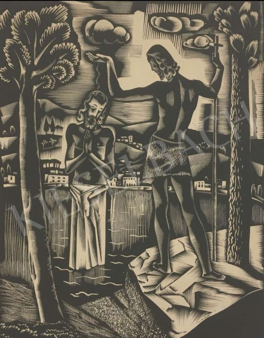Eladó  Molnár C. Pál - Keresztelő Szent János festménye