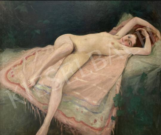 Eladó  Benkhard Ágost - Fekvő női akt  festménye