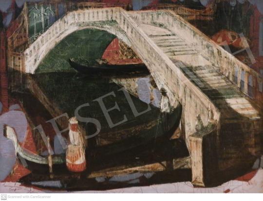 Eladó  Xantus Gyula - Gondolák Velencében (Velencei hangulat este) festménye
