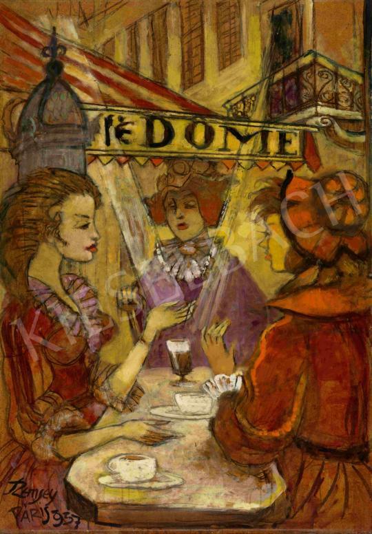 Eladó  Remsey Jenő György - Café Dome, Párizs, 1957 festménye