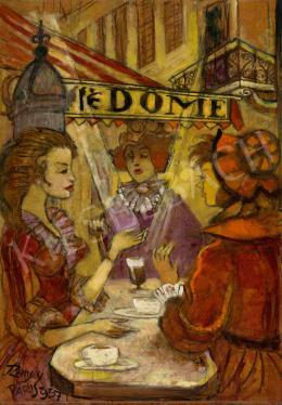 Remsey Jenő György - Café Dome, Párizs, 1957