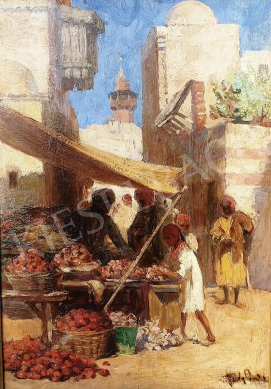 Eladó Gergely Imre - Keleti piac gyümölcsárussal festménye