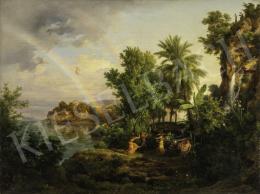 Id. Markó Károly - Eszményi táj szivárvánnyal és felemelkedó Aurórával, 1854