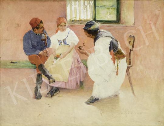 Hollósy Simon - Két tűz között, 1892 körül festménye