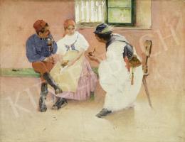 Hollósy Simon - Két tűz között, 1892 körül