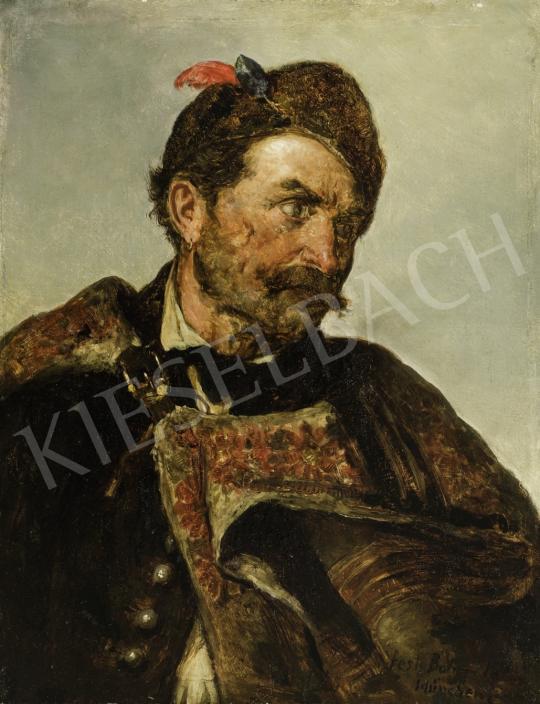 Böhm Pál - Férfi magyar viseletben festménye