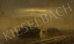 Katona Nándor - Hajók a Dunán, 1905 körül