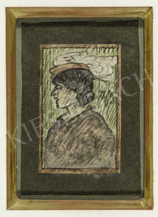 Gulácsy Lajos - A tollas kalap festménye