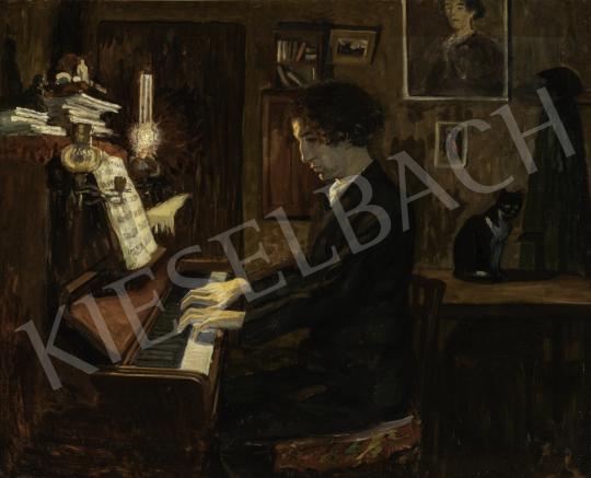 Ormó Béla - Férfi a zongoránál, 1907 festménye