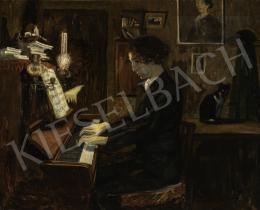 Ormó Béla - Férfi a zongoránál, 1907