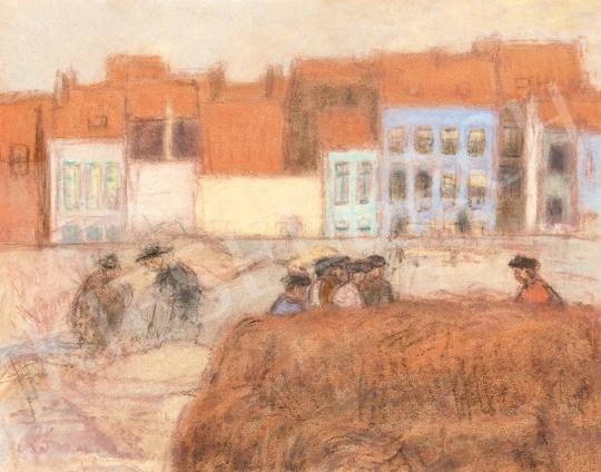Rippl-Rónai József - Bretagne-i kikötő, 1900-as évek eleje festménye