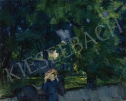 Vaszary János - Kilovaglás előtt a tatai parkban (Séta a parkban, A tatai parkban), 1918