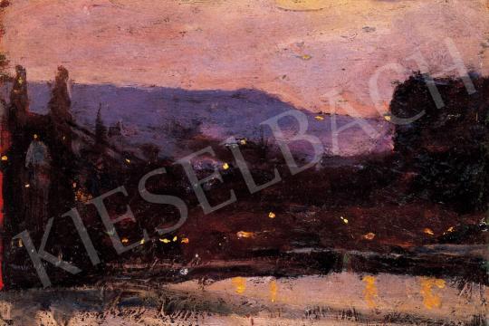 Kunffy Lajos - Esti fények a Dunán | 22. Aukció aukció / 2 tétel